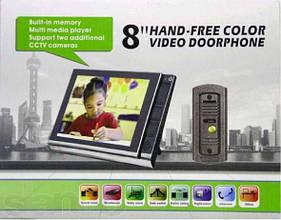 Цветной ультратонкий широкоэкранный 8 дюймовый видеодомофон