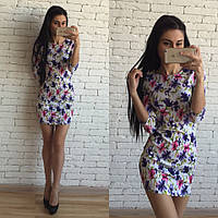 Летнее женское платье нежного цвета о-40417