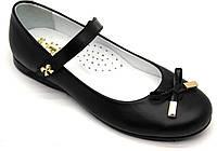 Туфли - лодочки кожаные, черные для девочки ТМ collection. Размер 32-39
