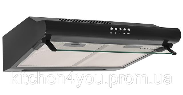 Pyramida WH 10-50 black (500 мм.) плоская кухонная вытяжка, черная эмаль