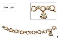 Женский браслет из золота  в стиле булгари