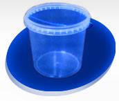 Ведро пластиковое пищевое 1л прозрачное