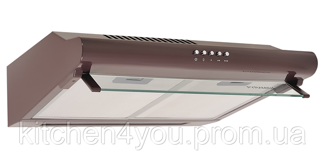 Pyramida WH 10-50 brown (500 мм.) плоская кухонная вытяжка, коричневвая эмаль