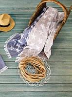 Полотенце Barine Pestemal - Starfish 100*180 beige бежевое