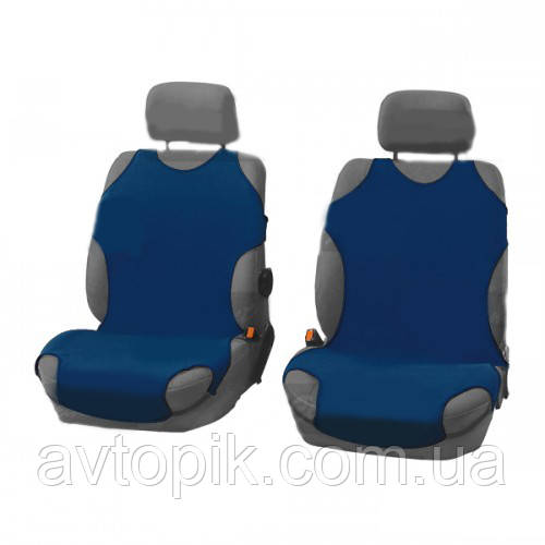 elegant Майки на сиденье автомобиля Elegant передние темно-синие V-21477
