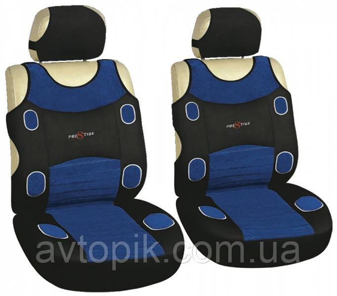milex Майки на сиденье автомобиля Milex Prestige передние синий (2 шт.) V-23560