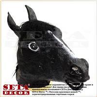 Маска голова Лошади( коня) карнавальная, чёрная