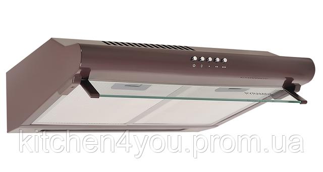 Pyramida WH 20-60 brown (600 мм.) плоская кухонная вытяжка, коричневая эмаль