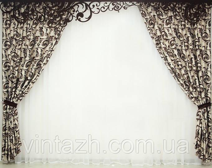 Красивые ламбрекен и шторы
