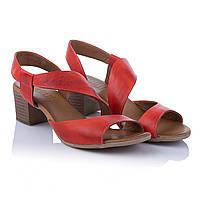 Босоножки красного цвета Amati (золотистые, стильные, кожаные, комфортные)