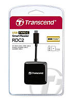 Кардридер Transcend USB Type-C - USB Type-A / SD microSD, TS-RDC2K