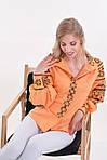 Современная женская блуза вышиванка расшита традиционным украинским орнаментом крестиком, фото 2