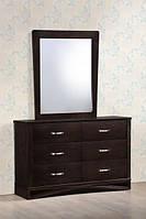 Спальня Венеция Будуарный стол + зеркало Венеция (дуб шоколадный)
