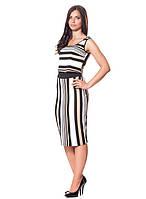 Великолепное и стильное платье в полоску