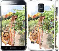"""Чехол на Samsung Galaxy S5 Duos SM G900FD Девушка Лето """"3528c-62"""""""