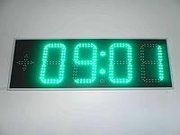 Часы-термометр уличные яркие сине-зеленые