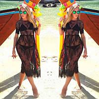 Женская легкая платье туника, цветочки