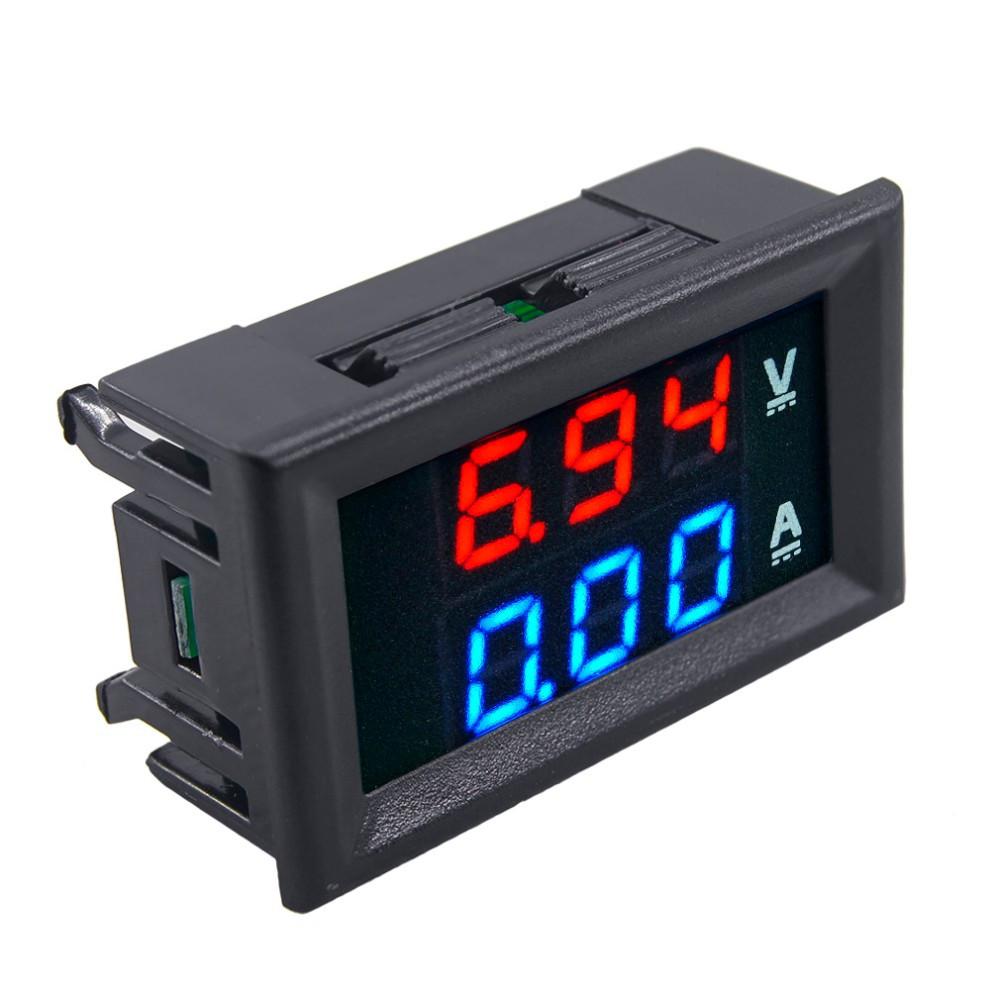 Вольтметр-амперметр 0-100V 10А