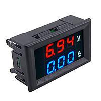 Вольтметр-амперметр 0-100V 10А, фото 1