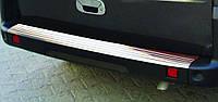 Хром накладки на Fiat Doblo 2001+ накладка на задний бампер Нержавеющая сталь