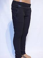 Школьные черные стрейчевые штаны для девочек (школа-2017).