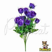 Букет Фиолетовых роз (Фиолетовые розы) из ткани с фатином Высота 44 см