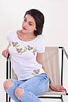 Стильная молодежная блуза свободного кроя с вышитым цветочным рисунком, фото 2