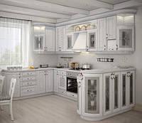 Кухня на заказ BLUM-019 краска по RAL каталогу + патина
