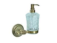 Дозатор для жидкого мыла KUGU Hestia antique 914A (латунь, бронза, стекло)(Бесплатная доставка Новой почтой)