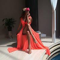 Женская легкая платье туника, оранж