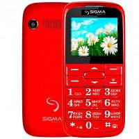 Телефон Sigma Comfort 50 Slim красный