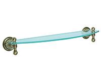 Полка для ванной комнаты KUGU Hestia antique 903А  (латунь, бронза, стекло)(Бесплатная доставка Новой почтой)