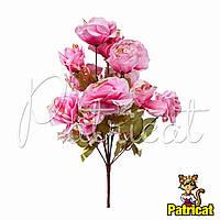 Букет Розовых роз (Розовые розы) из ткани с веточками Высота 44 см