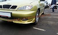 Юбка передняя, клыки на Chevrolet Lanos Хэтчбек