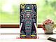 Силиконовый бампер для Lenovo A6010 с принтом Череп из цветов, фото 6