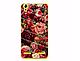 Силиконовый бампер для Lenovo A6010 с принтом Череп из цветов, фото 8