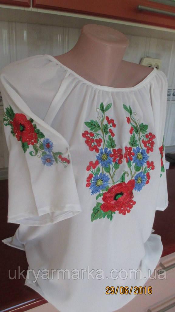 """Шифонова блузка з вишивкою """"Літнє диво"""""""
