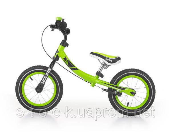 MillyMally Young. Беговел для детей от 2,5 до 6 лет. Цвет:зелёный