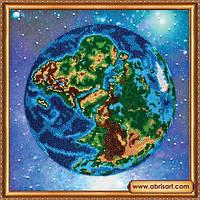 Набор для вышивания бисером Планета Земля AB-358