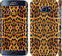 "Чехол на Samsung Galaxy S6 Edge G925F Шкура леопарда v2 ""1075c-83"""