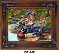 """Схема для вышивания бисером на атласе """"Влюблённые мандаринки"""" АЕ-325"""