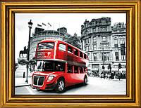 """Схема для вышивания бисером на атласе """"Лондонский красный стиляга"""" АЕ-364"""