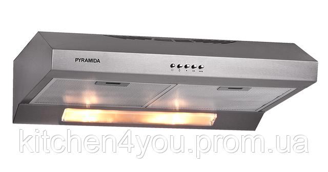 Pyramida GH 20-60 Slim inox (600 мм.) плоская кухонная вытяжка, нержавеющая сталь