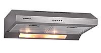 Pyramida GH 20-60 Slim inox (600 мм.) плоская кухонная вытяжка, нержавеющая сталь, фото 1