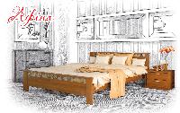 Ліжко дерев'яне букове Афіна (Щит), фото 1