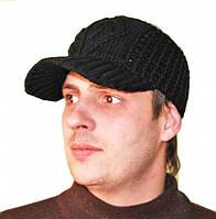 Вязаная черная кепка унисекс