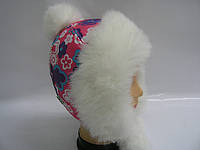 Шапка - Снежка (коралловая)