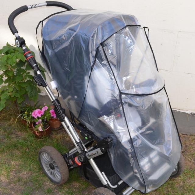 Полиэтиленовый дождевик на коляску