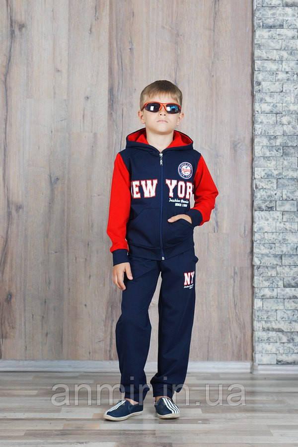 """Спортивный костюм для мальчика 3-6 лет,""""New York"""" красный, фото 1"""