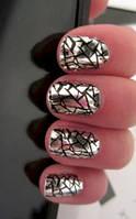 Битое стекло для ногтей, 25см*5 см